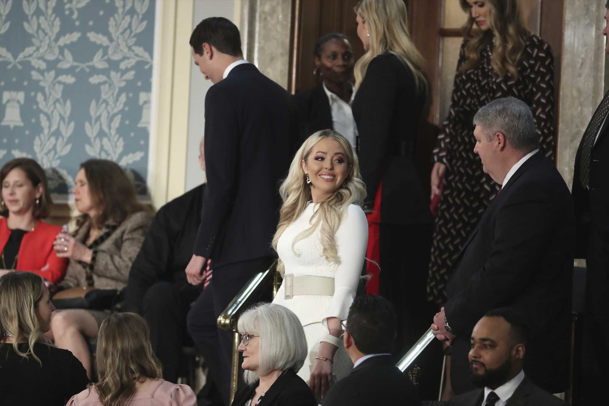 69a3f1f7c Tiffany Trump wore white to the State of the Union, matching many Dems