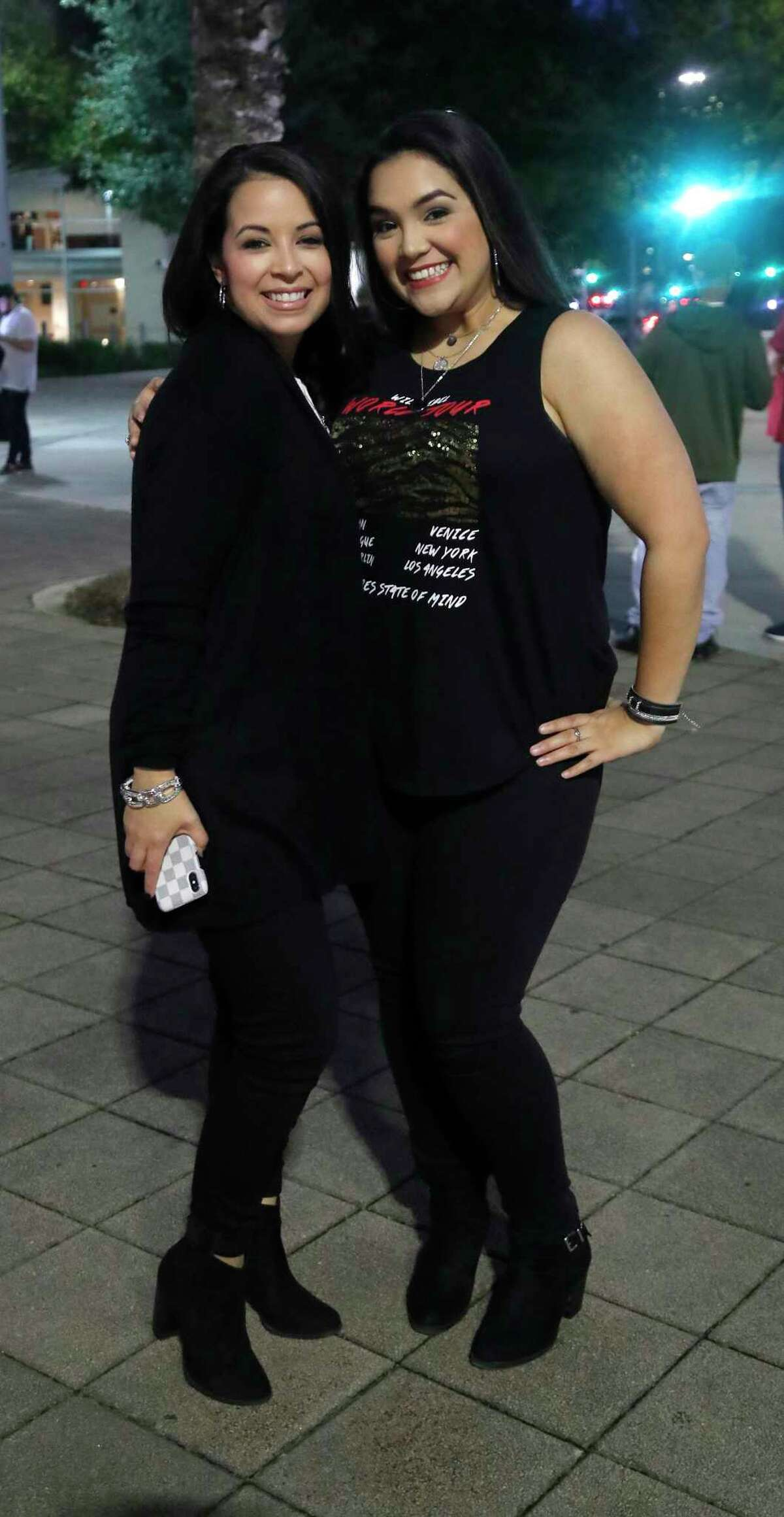 Fans line up before the Fleetwood Mac concert at the Toyota Center, Tuesday, Feb. 5, 2019, in Houston.