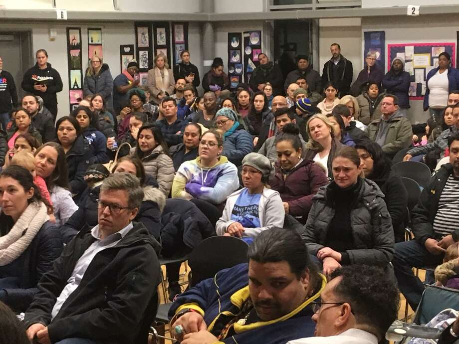 Community forum held at Black Rock School. Jan. 16, 2019 Photo: Linda Conner Lambeck