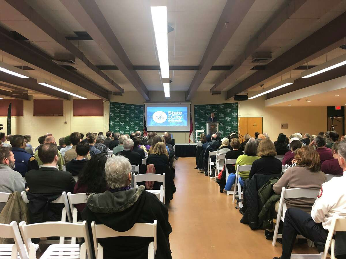 Mayor Patrick Madden highlighted the city's upcoming long-awaited infrastructure projects, decrease in violent crime rates and small business growth during Tuesday's State of the City, while also noting that there are still improvements to be made.