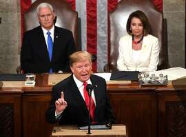 US President Donald Trump delivers the State of the Union address at the US Capitol in Washington, DC, on February 5, 2019. (Photo by Jim WATSON / AFP)JIM WATSON/AFP/Getty Images