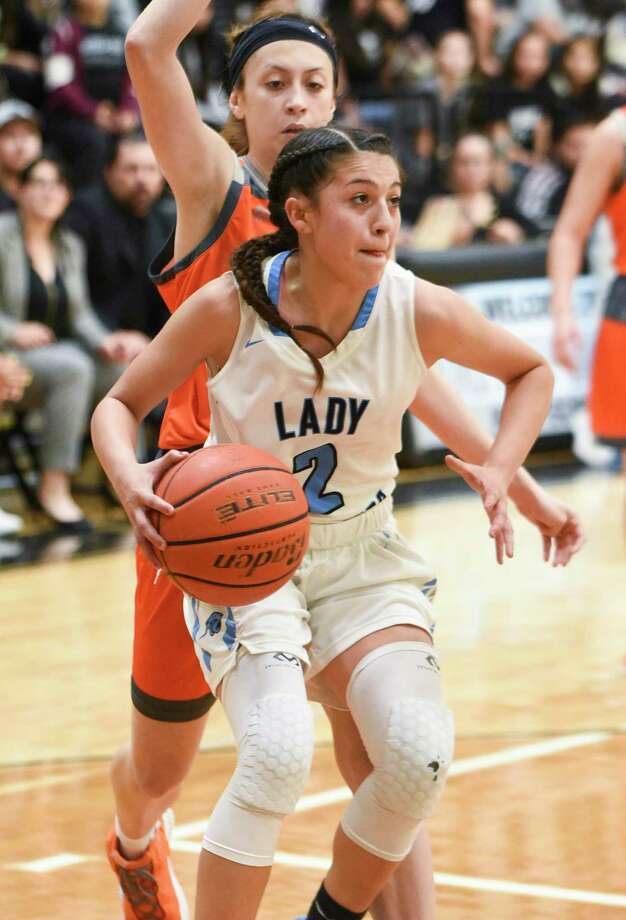 Angelina Lopez and United South won double their previous win total Thursday picking up two wins at the Floresville Barbara Harvey Jaguar Classic Tournament. Photo: Danny Zaragoza /Laredo Morning Times File