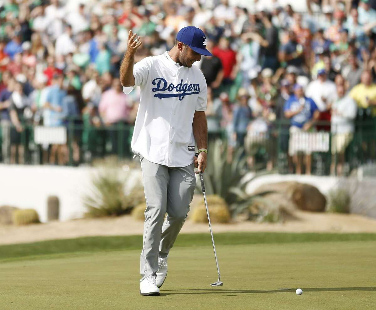 Max Homa reacts after a putt on the 16th green during the third round of the Waste Management Phoenix Open at TPC Scottsdale in Arizona. He was 26th, his best finish in four years.