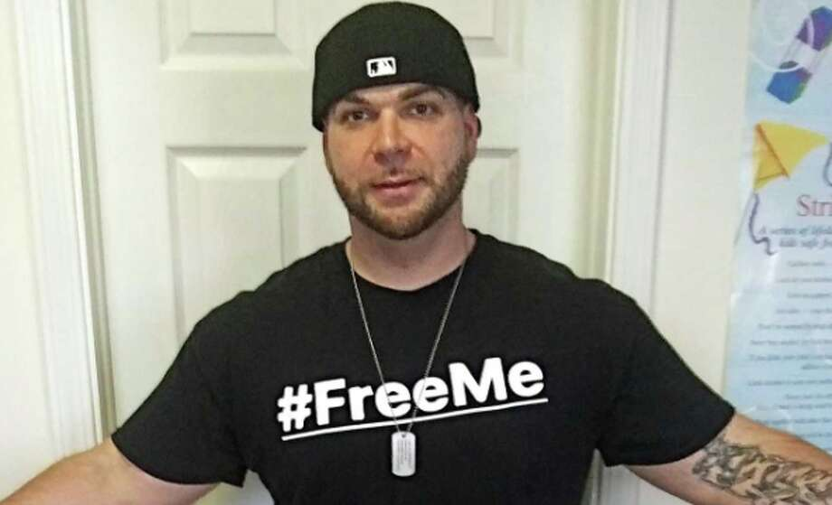 Middletown born and raised, Derek Mandeville, 30, a high school baseball star, has struggled with an opioid addiction since 16. After years of arrests, incarceration and time in and out of detox centers, Mandeville, now sober, launched the #FreeMe Facebook page 40 days ago with co-founder Joey Mccormick, 29, of Stafford Springs (not shown). Photo: Contributed