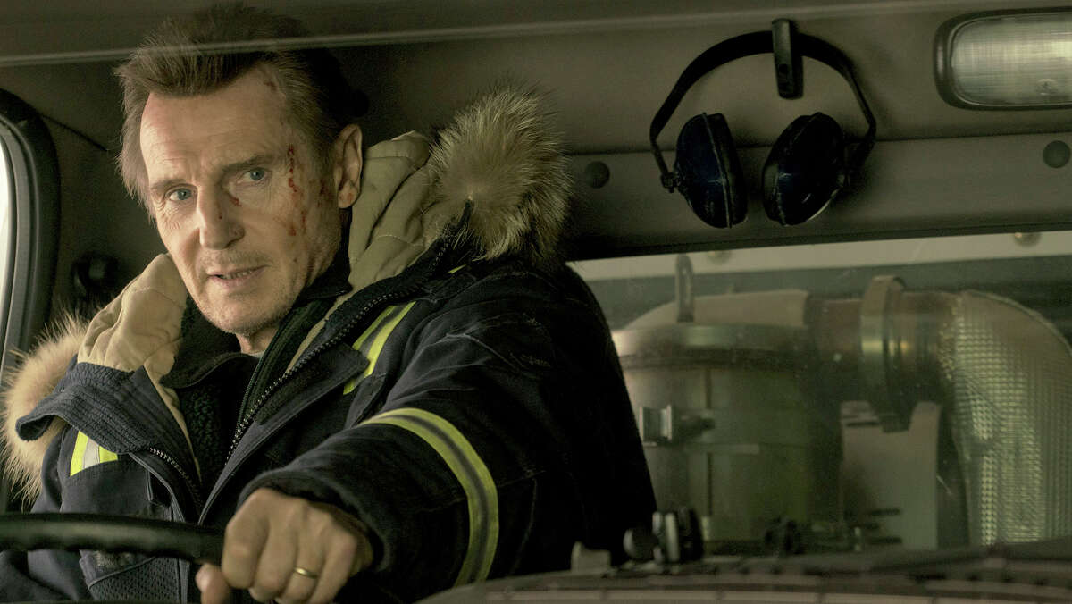 """Liam Neeson stars in the thriller """"Cold Pursuit,"""" the story of a Colorado snowplow operator seeking vengeance for the murder of his son."""