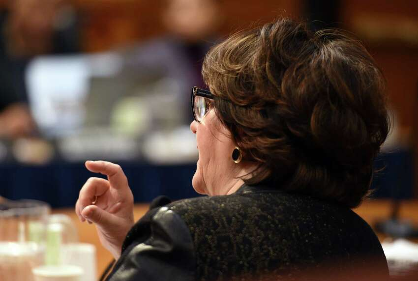 New York State Education Commissioner MaryEllen Elia speaks during the education budget hearings Wednesday, Feb. 6, 2019 at the Legislative Office Building in Albany, NY. (Phoebe Sheehan/Times Union)