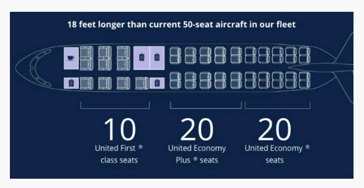 Seating layout for United's new CRJ 550s