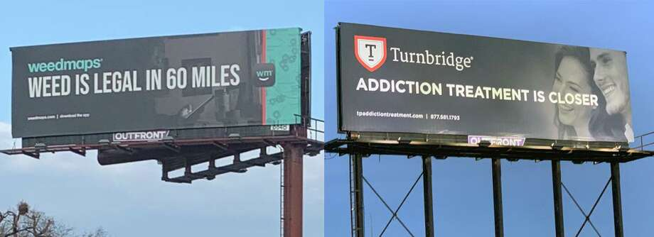 Turnbridge, an addiction-treatment agency based in New Haven, said it launched a billboard campaign to raise awareness about marijuana addiction and the availability of treatment. Photo: Contributed Photo