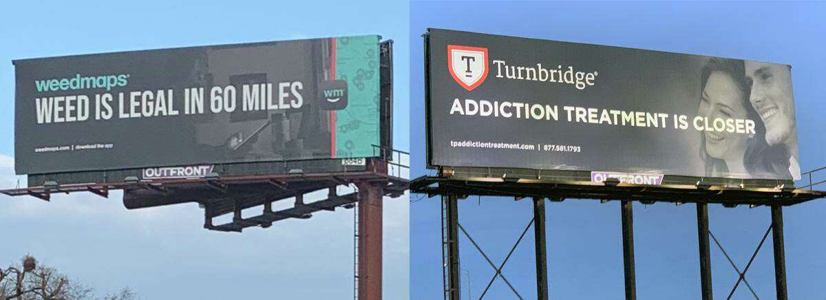 Turnbridge, anaddiction and mental healthcare treatment provider based in NewHaven, said it launched a billboard campaign to raise awareness about marijuanaaddiction and the availability of treatment.