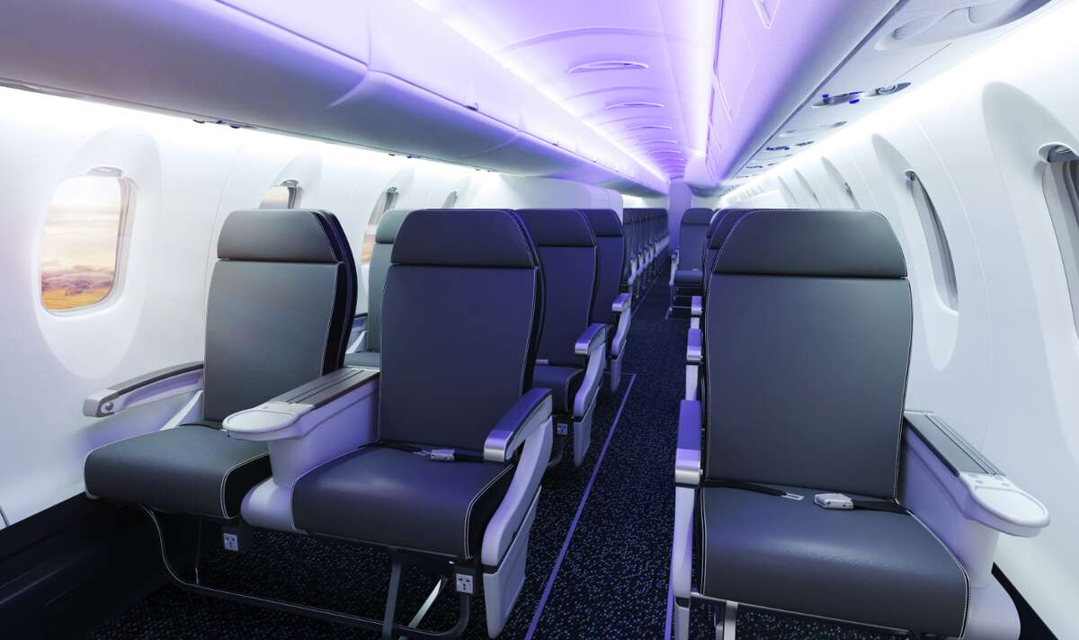 First class section of a CRJ550