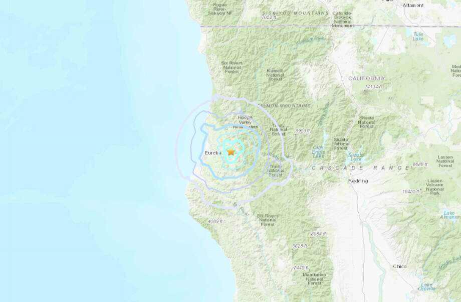 A magnitude 4.4 earthquake struck near Blue Lake, CA on Wednesday. Photo: USGS