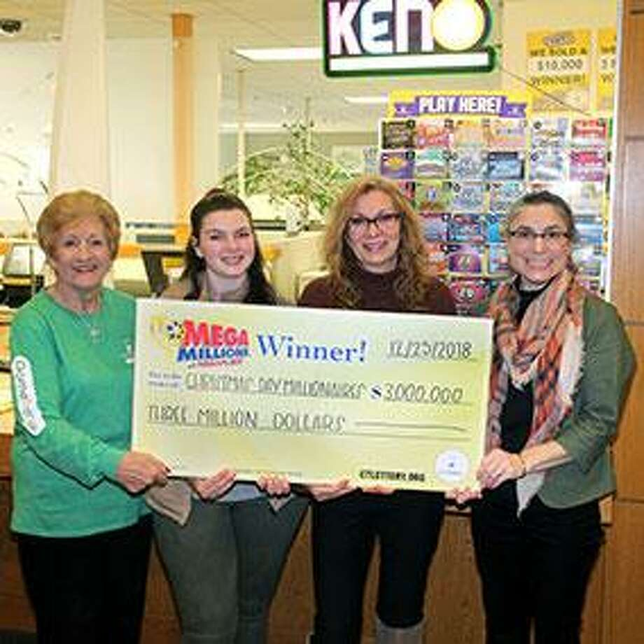 On Friday, Feb. 1, 2019, members of four trusts cashed in a winning $3 million lottery ticket that was purchased on Christmas Day in Bristol. Big Sky Revocable Trust, Christmas 2018 Revocable Trust, Christmas 2018 3 Revocable Trust of Bristol, and Christmas 2018 2 Revocable Trust of Plainville, stepped forward to claim their share of the prize—$750,000 each, before taxes. The names of people in the trust were not released. Photo: CT Lottery Photo