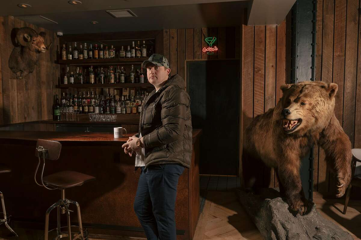 Chef Joshua Skenes at one of the bars in Angler, a restaurant in San Francisco, Jan. 4, 2019.