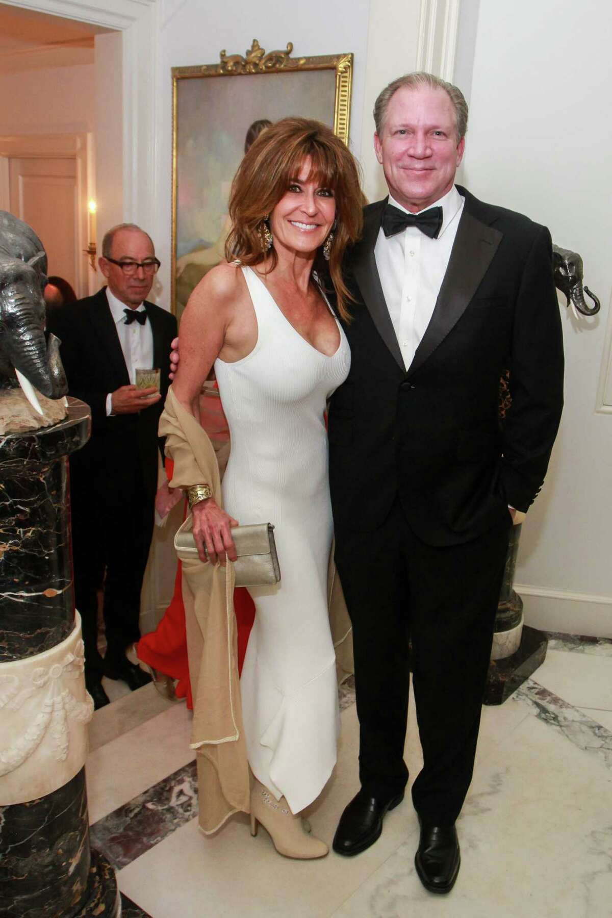 Annie Amante and Cliffe Reckling at MFAH's annual Rienzi Society dinner.