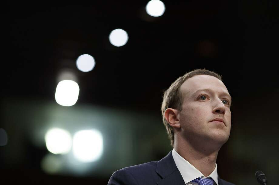 Mark Zuckerberg, chief executive of Facebook, during his testimony last month at a Senate hearing, on Capitol Hill in Washington, April 10, 2018.  Photo: Tom Brenner, NYT