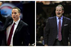 Twenty-eight years ago Kermit Davis Jr., right, and Billy Kennedy were teaming up at Texas A&M. The former coworkers will face each other in SEC play Wednesday night.