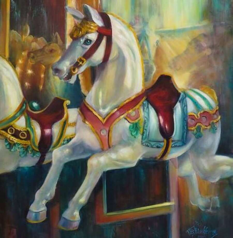 "An oil painting titled ""Carousel,"" by Lois Blackburne, one of the members of the newly established Houston Area Oil Painters of America group, who will be having their inaugural group art show at the Gallery at the Madeley Building Feb. 8-10 in downtown Conroe. Photo: Courtesy Photo"