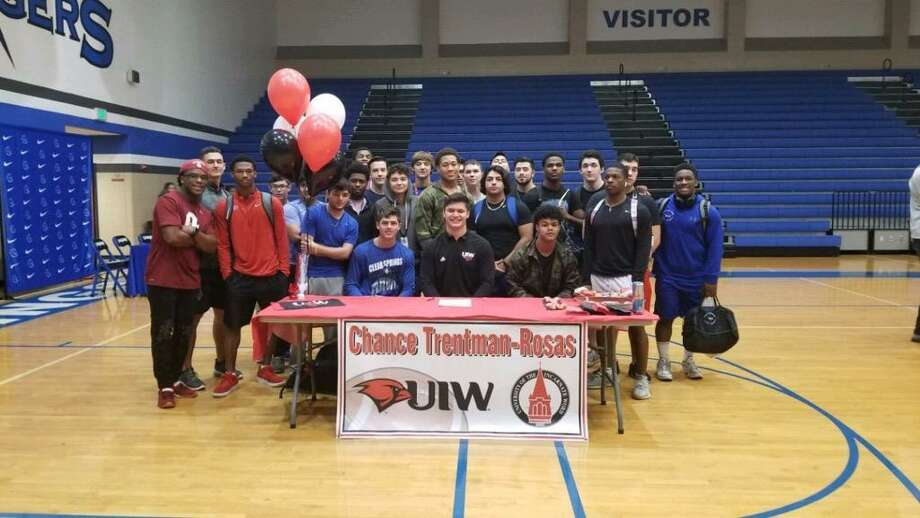 Chance Trentman-Rosas of Clear Springs signed a national football letter of intent Wednesday with the University of Incarnate Word. Photo: Submitted Photo