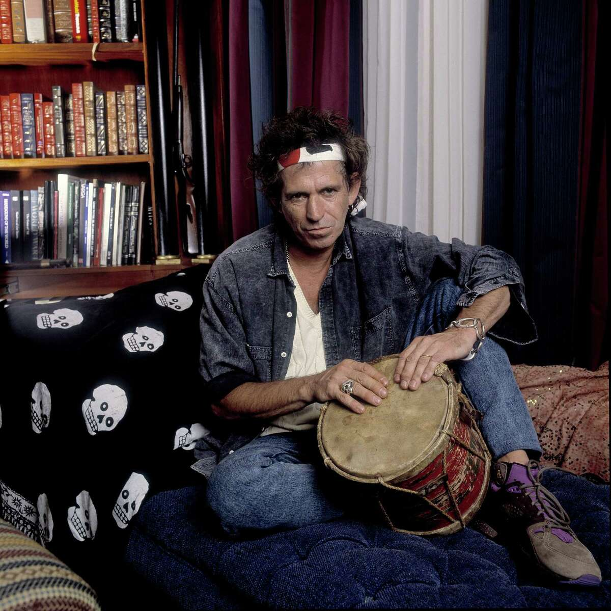 Keith Richards on 7/28/93 in Weston, Ct. in Various Locations, (Photo by Paul Natkin/WireImage)