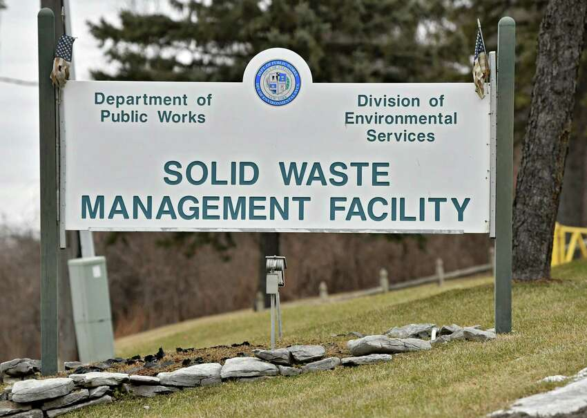 Sign outside the Colonie Landfill on Wednesday, Feb. 6, 2019 in Colonie, N.Y. (Lori Van Buren/Times Union)