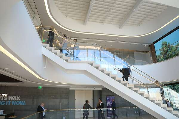 First look: Accenture's five-story staircase in Salesforce Tower
