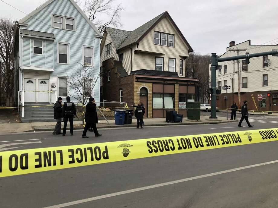 Police responded to a shooting on Ferry Street in New Haven on Wednesday, Feb. 6, 2018. Photo: Ben Lambert / New Haven Register