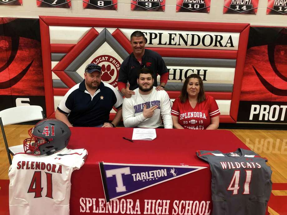 Splendora's Kyle Weber signed with Tarleton State during National Signing Day on Wednesday, Feb. 6, 2019. Photo: Photo Provided