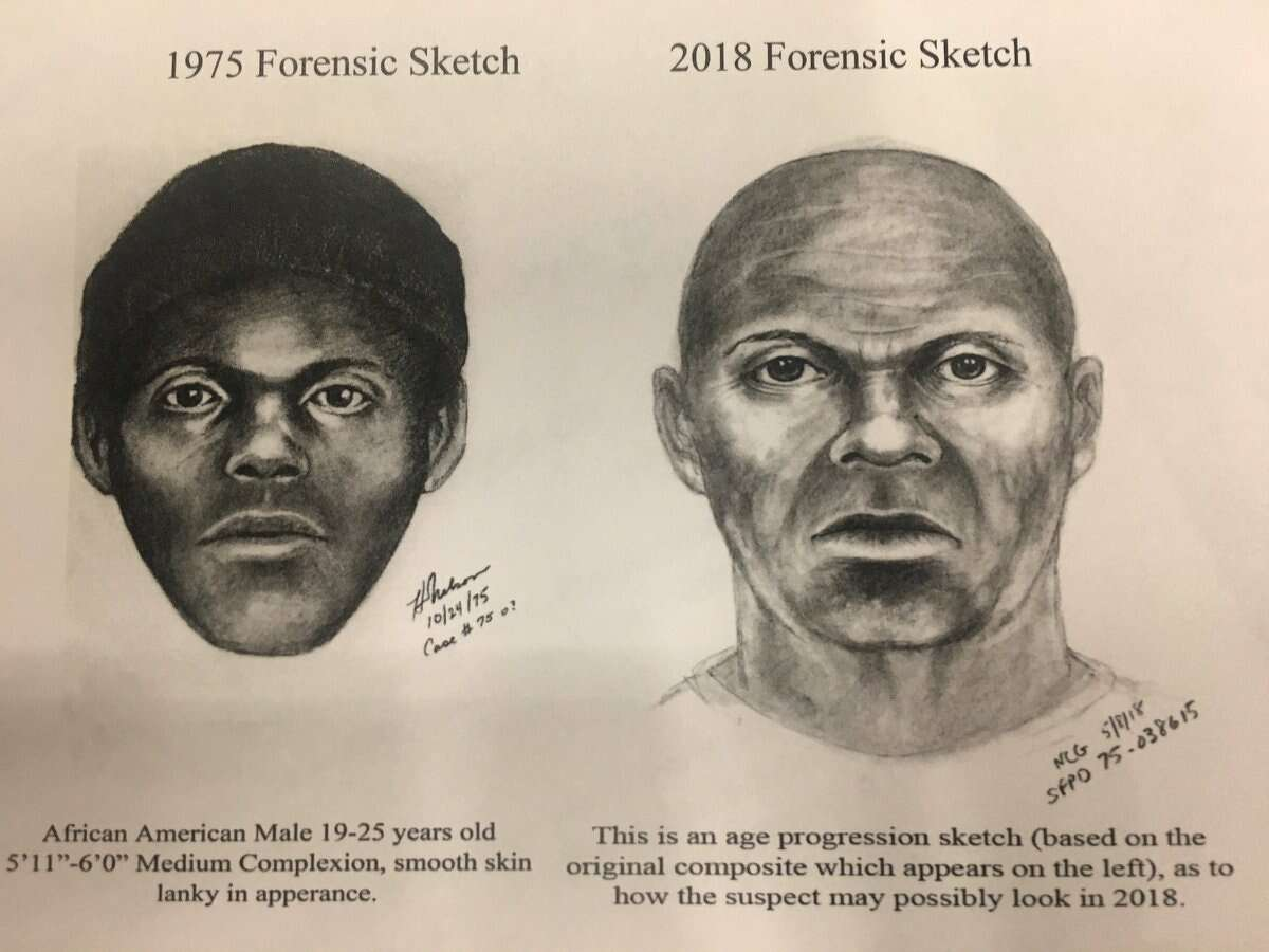 """An age-progression of the 1974 suspect sketch of the San Francisco serial killer """"The Doodler."""" The age-progression shows what the suspect might look like today."""