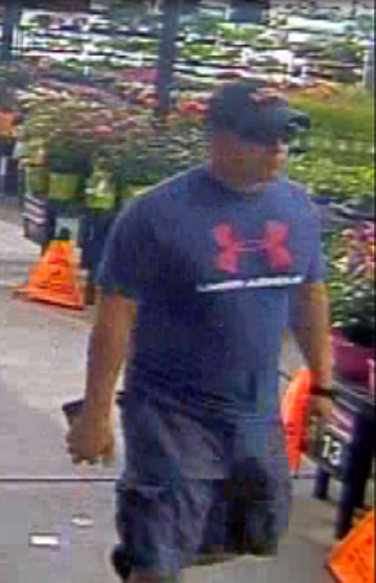 Authorities said this man is wanted in connection to a credit card abuse case.