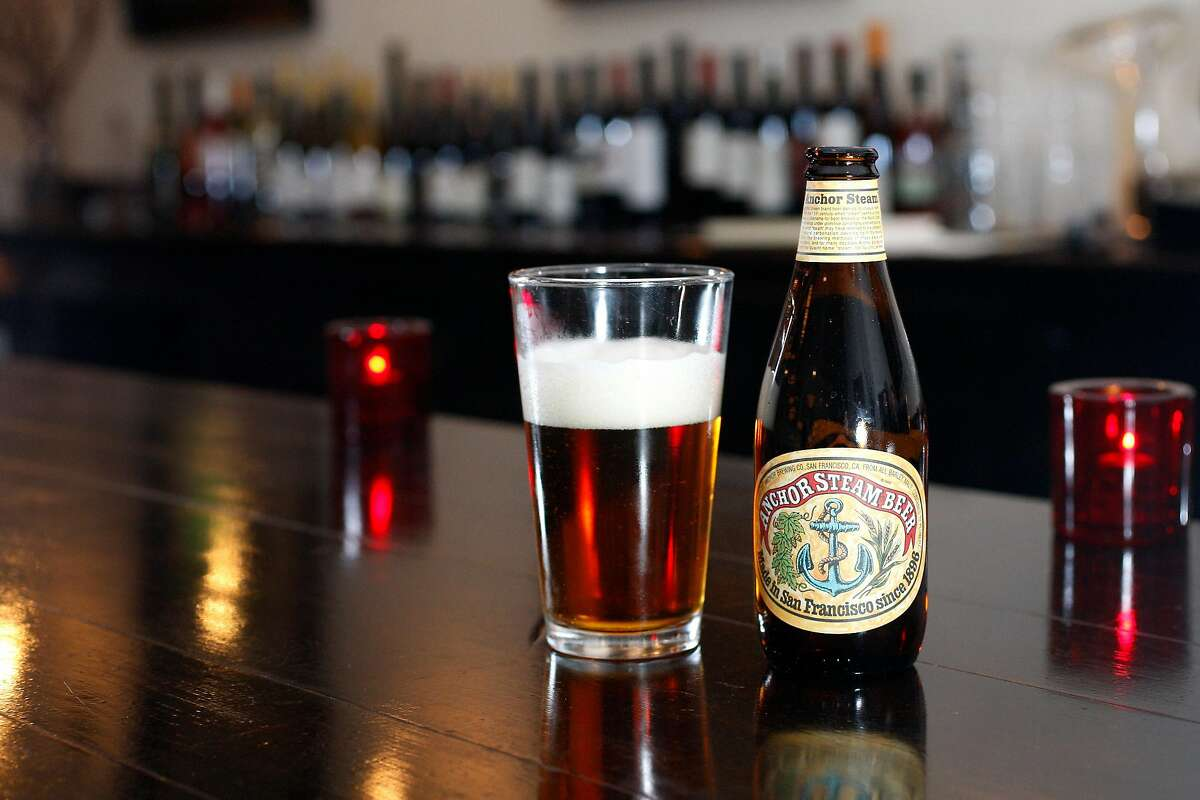 Anchor Steam Beer. Radius is a happening restaurant located on Folsom and Seventh St.
