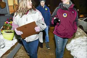 Volunteers look for homeless individuals during the 2016 Point in Time homeless count in Fair Haven.