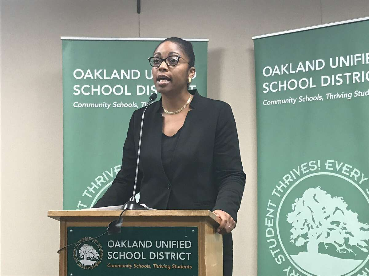 In a news conference Wednesday, OUSD superintendent Kyla Johnson-Trammell addressed the budget, school closures, layoffs and a possible teacher strike.