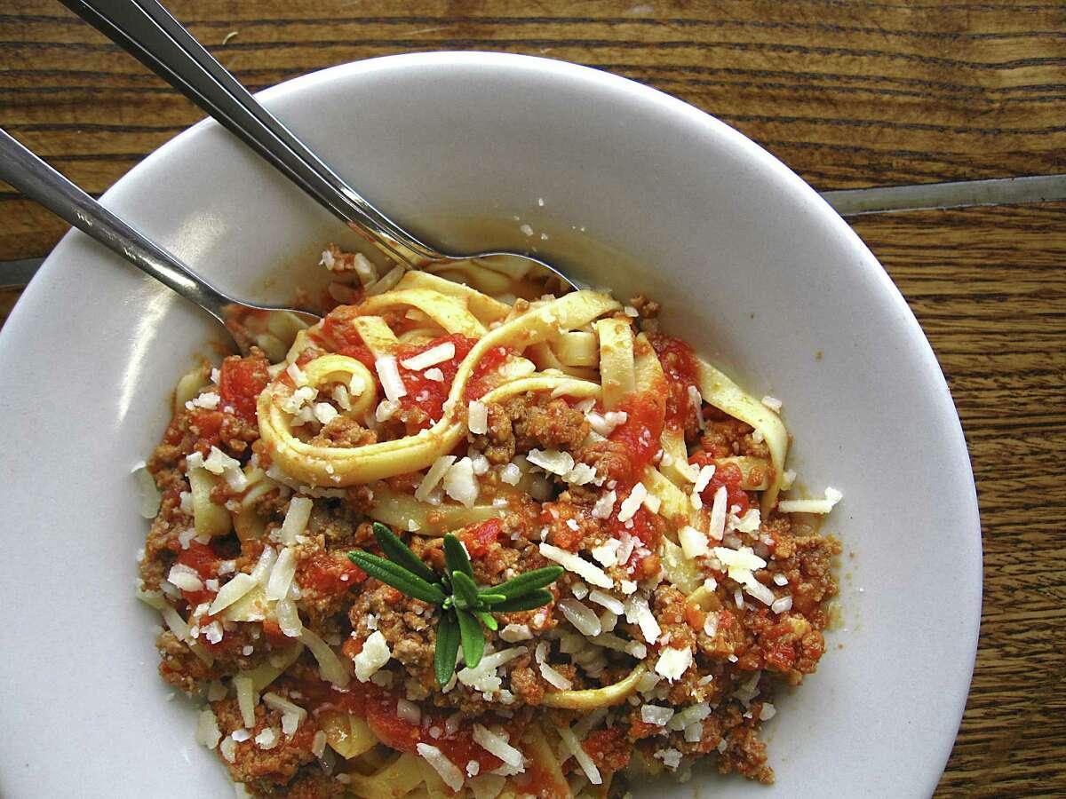 Fettuccine Bolognese pasta from Carlucci's
