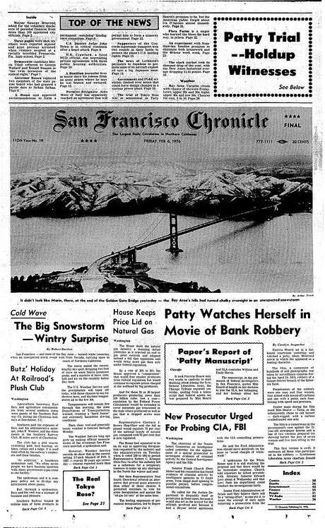 The cover of the Feb. 6, 1976, San Francisco Chronicle, with photo taken by Art Frisch. Photo: Chronicle Archive