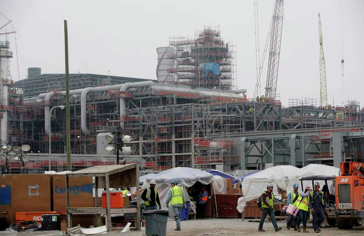 Construction at a production unit at Cameron LNG is shown Wednesday, Feb. 6, 2019, in Hackberry, LA. More than 8,000 people are working day and night to bring the liquefied natural gas plant's first production unit into operation over the next few months. NEXT: Energy giants that paid no taxes in 2018