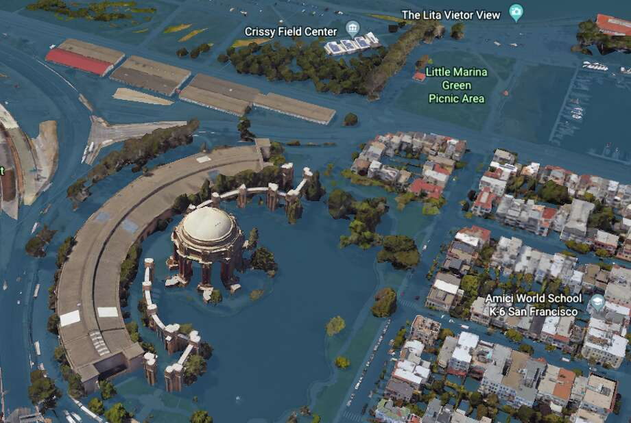 San Francisco in 2100 - modeled by Climate Central