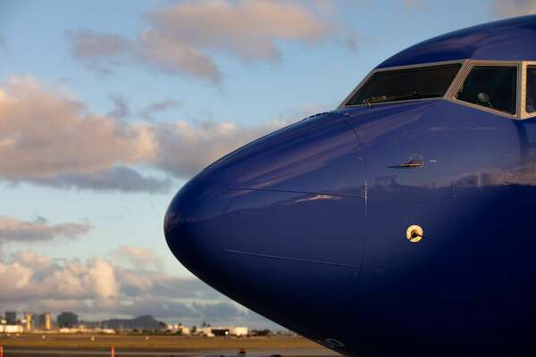 Southwest Airlines Boeing 737-800 noses into the market at Honolulu's Daniel K. Inouye International Airport