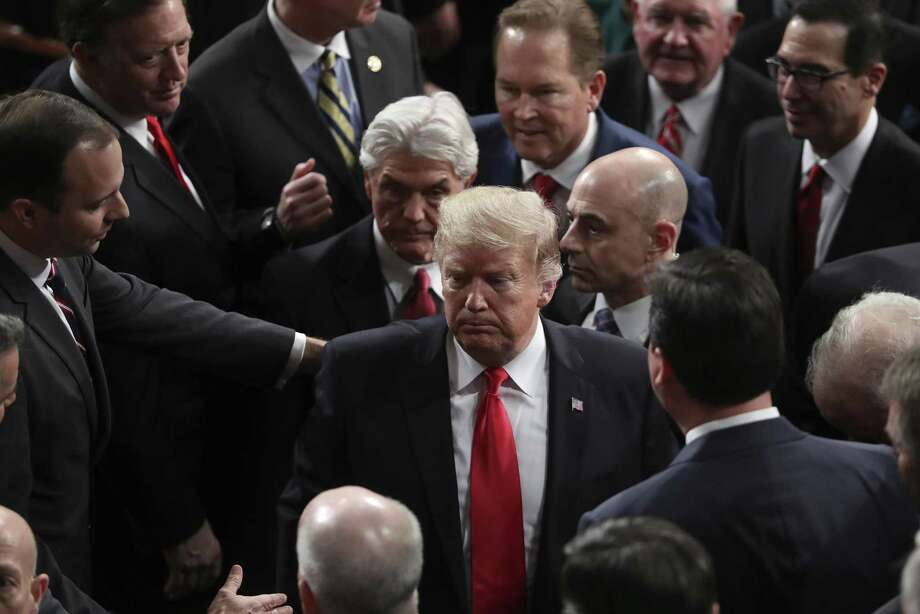 El presidente Donald Trump se retira del Capitolio tras pronunciar su discurso sobre el Estado de la Unión, en Washington, el martes 5 de febrero de 2019. Photo: Andrew Harnik /Associated Press / Copyright 2019 The Associated Press. All rights reserved