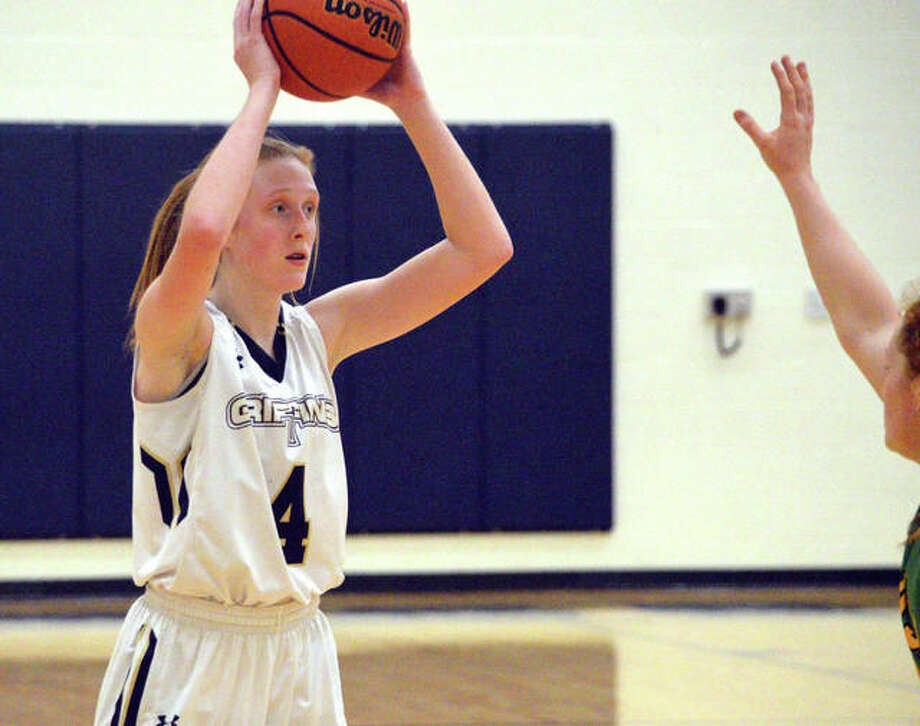 Anna McKee scored 11 points in Father McGivney's overtime loss to Lebanon. Photo: Matt Kamp/Intelligencer