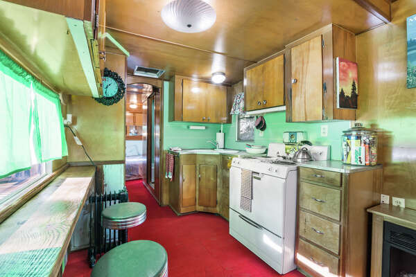 Converted trailer is a charming, tiny cabin set near thousands of acres of forest, three hours out of Seattle.