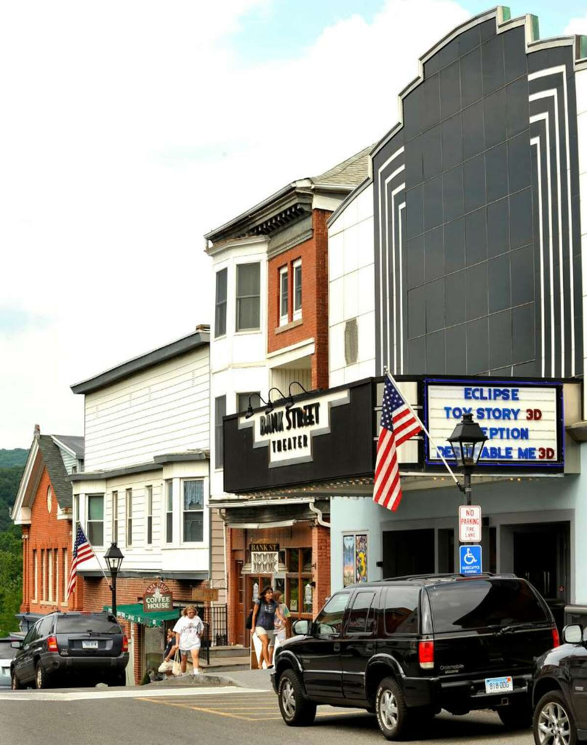 A view of Bank Street in New Milford, the centerpiece of a thriving downtown on Wendesday, July 21, 2010.
