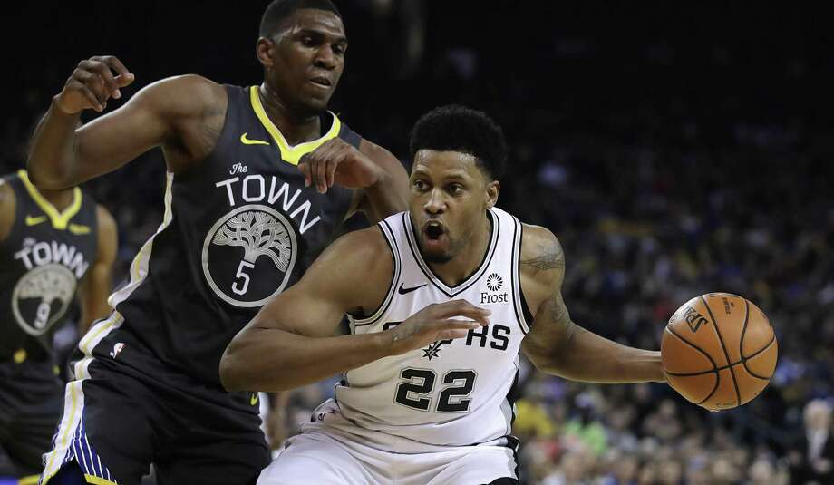 Rudy Gay, the team's third-leading scorer and second-leading rebounder, was missed in Saturday's 125-105 loss to the Jazz. Gay sat with a sprained left ankle. Photo: Ben Margot /Associated Press / Copyright 2019 The Associated Press. All rights reserved.