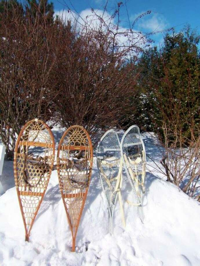 The writer truly appreciates snowshoes for wintertime activities in Michigan. (Tom Lounsbury/Hearst Michigan)