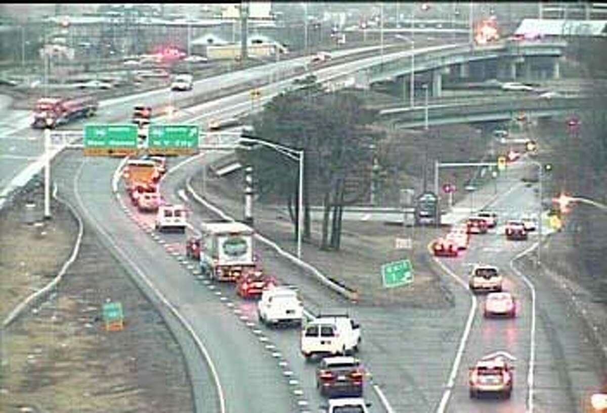 The nothbound ramp to I-95 from Route 8 south in Bridgeport is shown in this file photo.