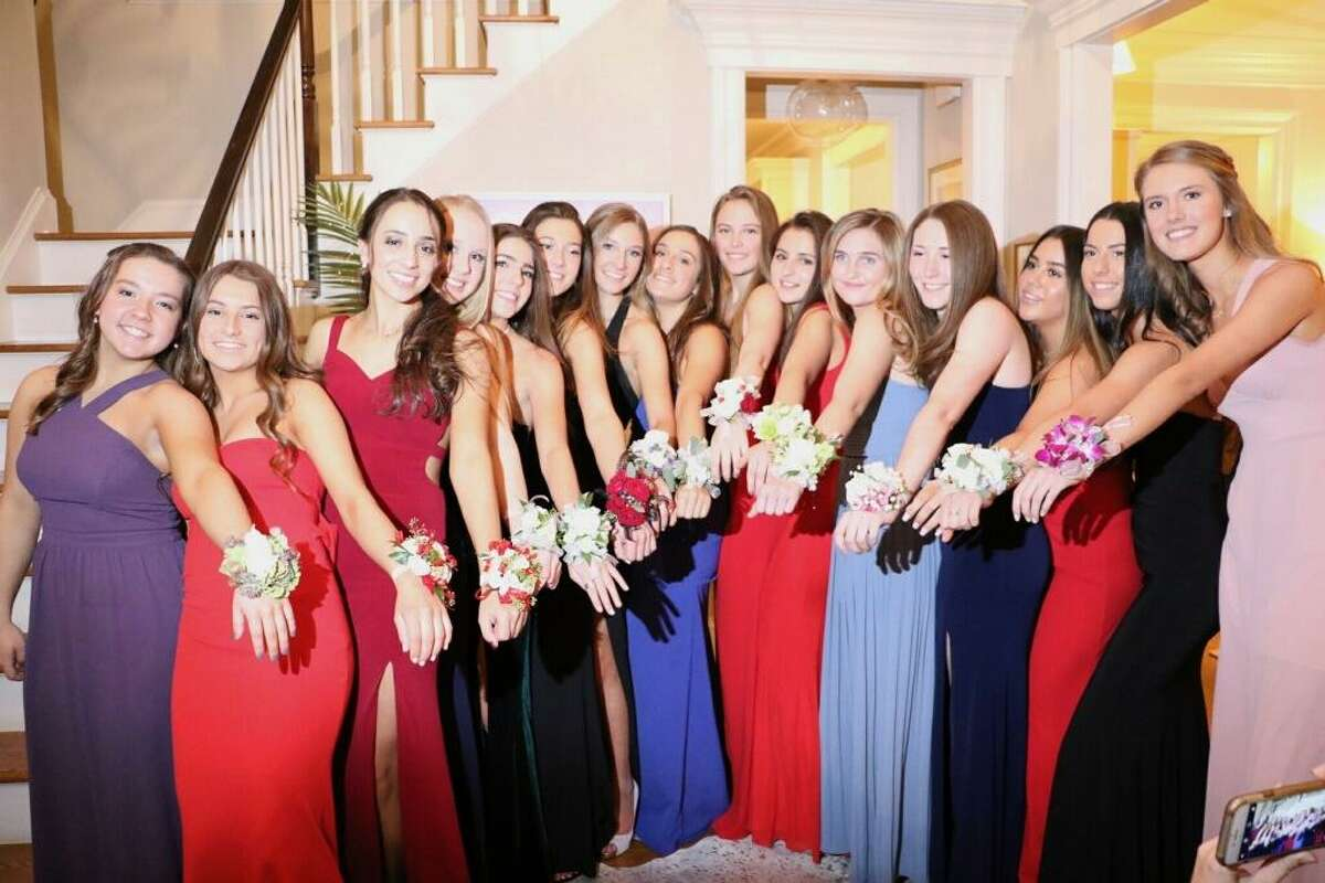 Girls from Westport and Wilton attending the County Assembly Charity Ball, called