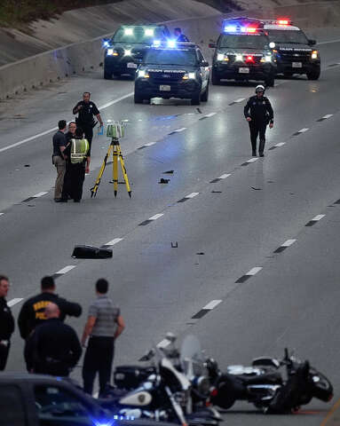 UPDATES: North Freeway re-opened following officer-involved crash