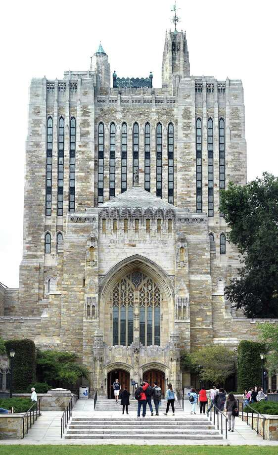 The Sterling Memorial Library at Yale University in New Haven. Photo: Arnold Gold / Hearst Connecticut Media / New Haven Register