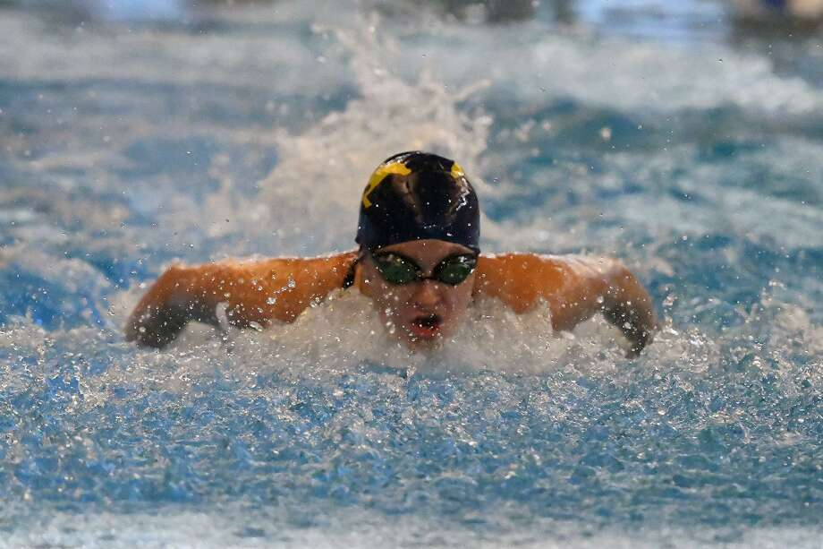 Cypress Ranch senior Kylie Bennett swims in the 200-yard individual medley at the Region V-6A championships. Bennett qualified for the UIL State Swimming and Diving Championships in the 500 freestyle. Photo: CFISD