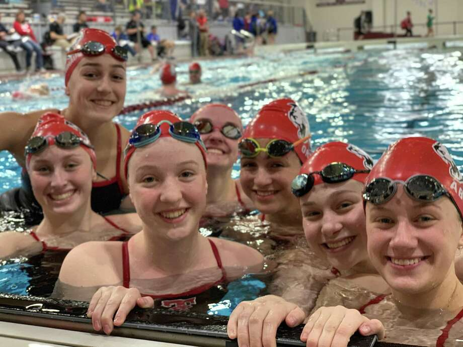 The Tomball girls placed 11th in the team standings at the Region 6-5A Swimming and Diving Championships, Feb. 1-2 at Magnolia, and the Tomball boys placed seventh out of 30. Photo: Tomball ISDS