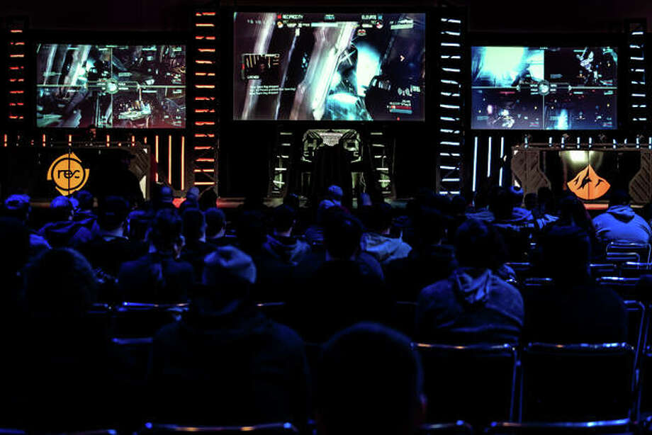 Teams Reciprocity versus Elevate compete on UGC Events The Halo Classic tournament's main stage, built by UGC at Gateway Center, in Collinsville. The three-day tournament took place Jan. 11-13. Photo: For The Telegraph